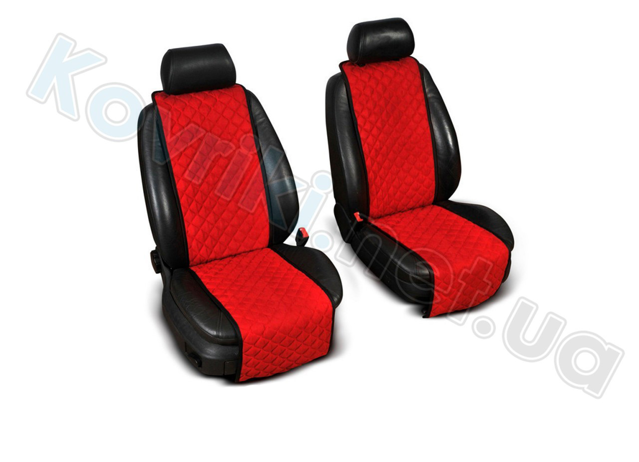 Накидки на сидения салона автомобиля Полный комплект, красный