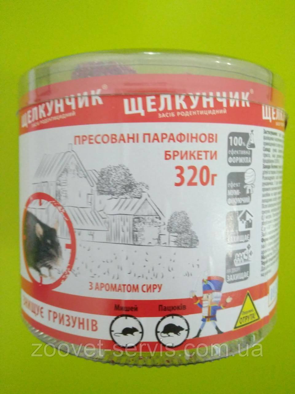 Брикеты от грызуновс ароматом сыра Щелкунчик с мумификатором 320 г
