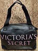 Женская сумка victoria's secret эко кожа  (черная) 24*38*15.5