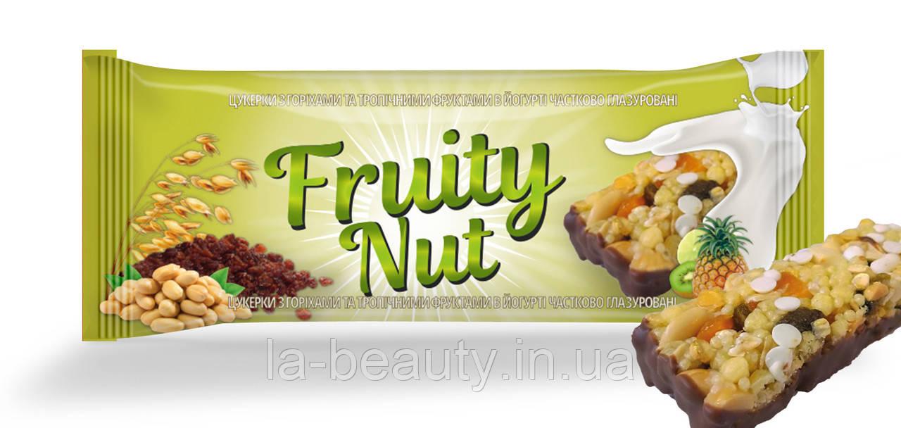 Батончик FruityNut с тропическими фруктами и орехами, тропики