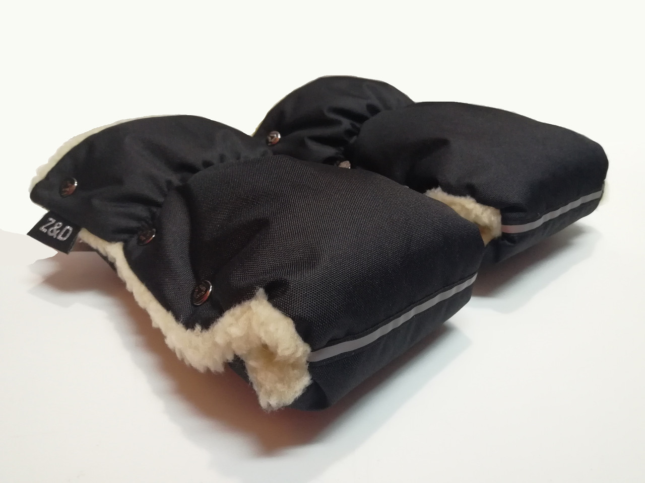 Рукавички-Муфта на коляску Z&D New Черный