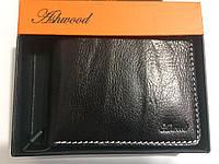 Ashwood. Брендовая мужская черный кожаный портативный кошелек портмоне- клатч.