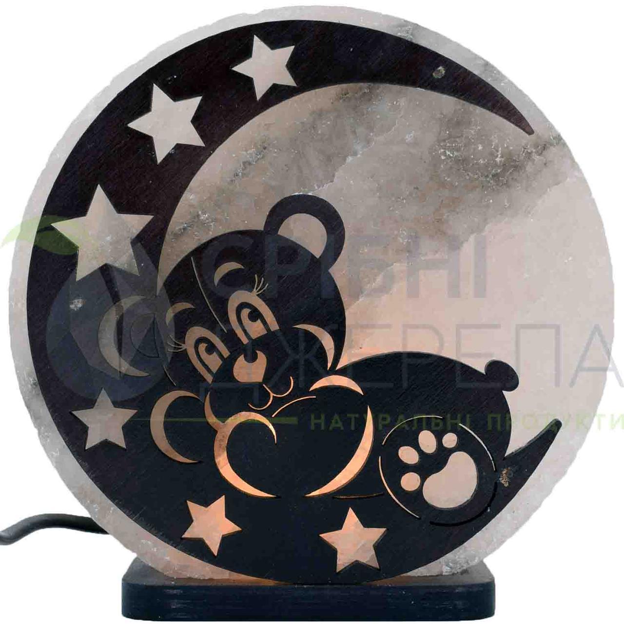Соляная лампа Мишка на Луне, 3-4 кг