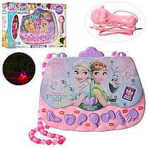 Дитячий Мікрофон сумочка в стилі Фроузен або Поні, музика, звук, світло, MP3, на батарейках, 1067-8