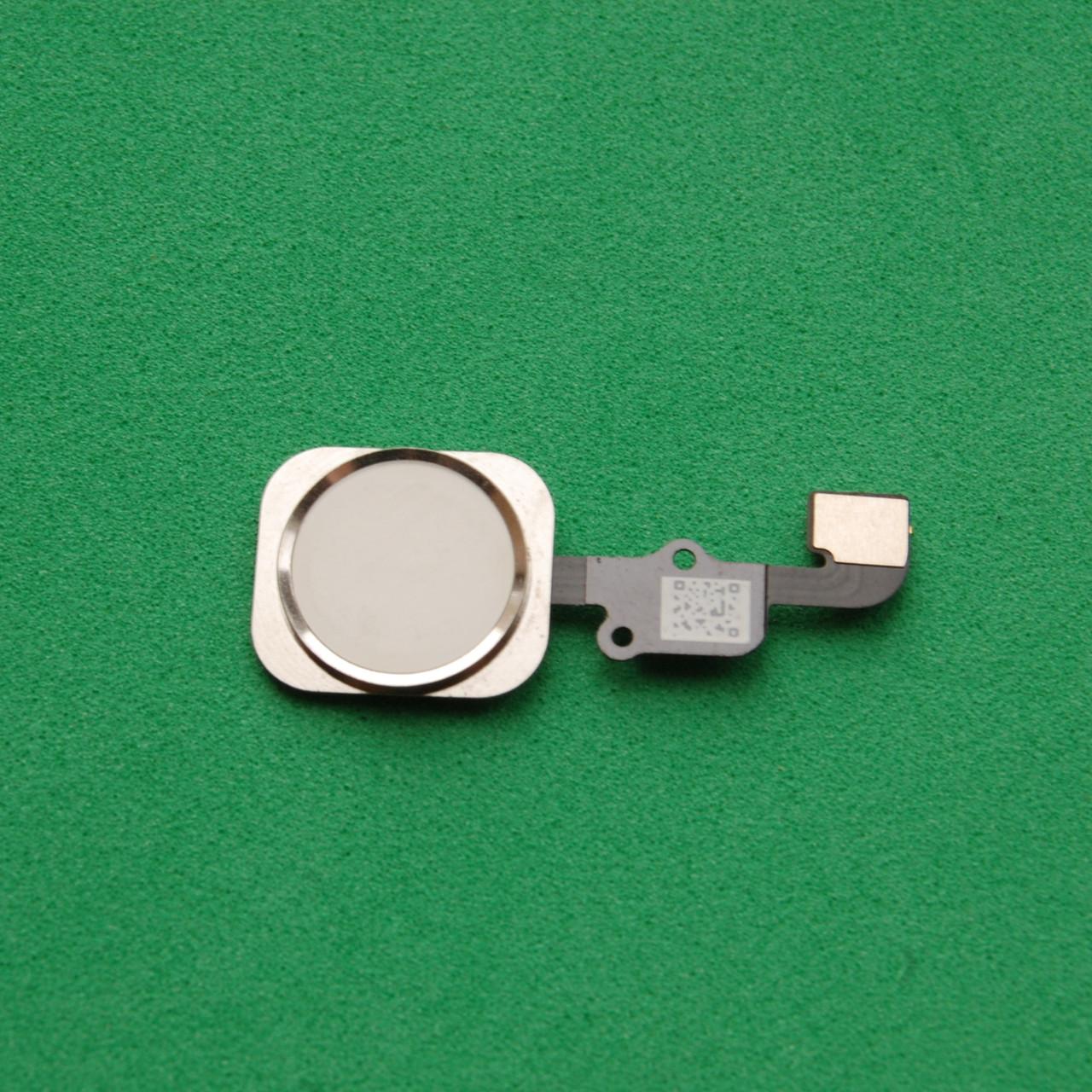 Шлейф Apple iPhone 6S,6S Plus кнопки HOME с пластиком Silver