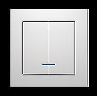 """Выключатель двухклавишный с LED подсветкой серия """"ИДЕАЛ"""" ТМ""""MARSHEL"""", фото 1"""