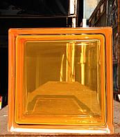 Стеклоблок яркоокрашенный оранжевый гладкий Brilly С Orange 1919/8