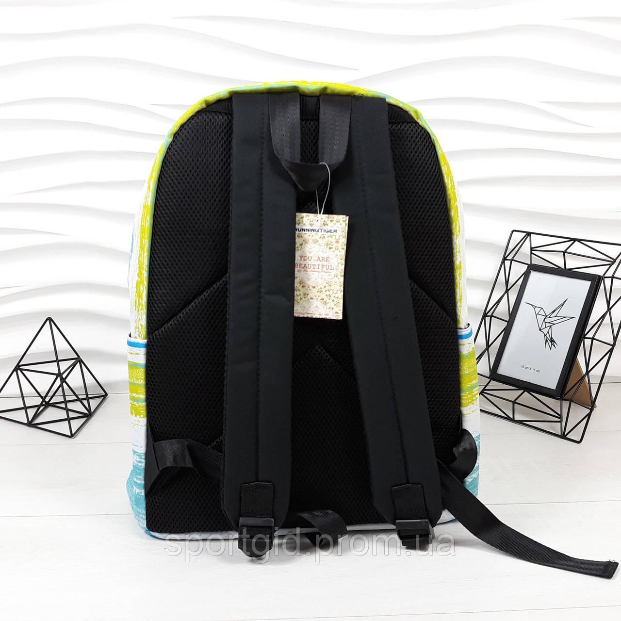 09d405d904bc ... удобный школьный рюкзак в комплекте с пеналом Running Tiger голубой, ...