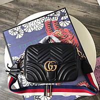 Кожаная стеганая большая сумкаGucci, фото 1