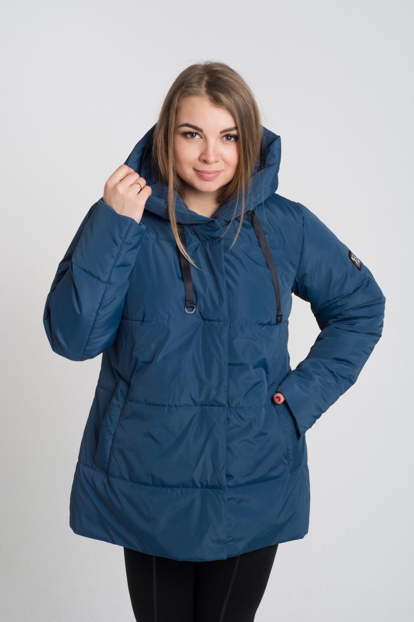Демисезонная женская куртка Марлена морская волна (50-64)