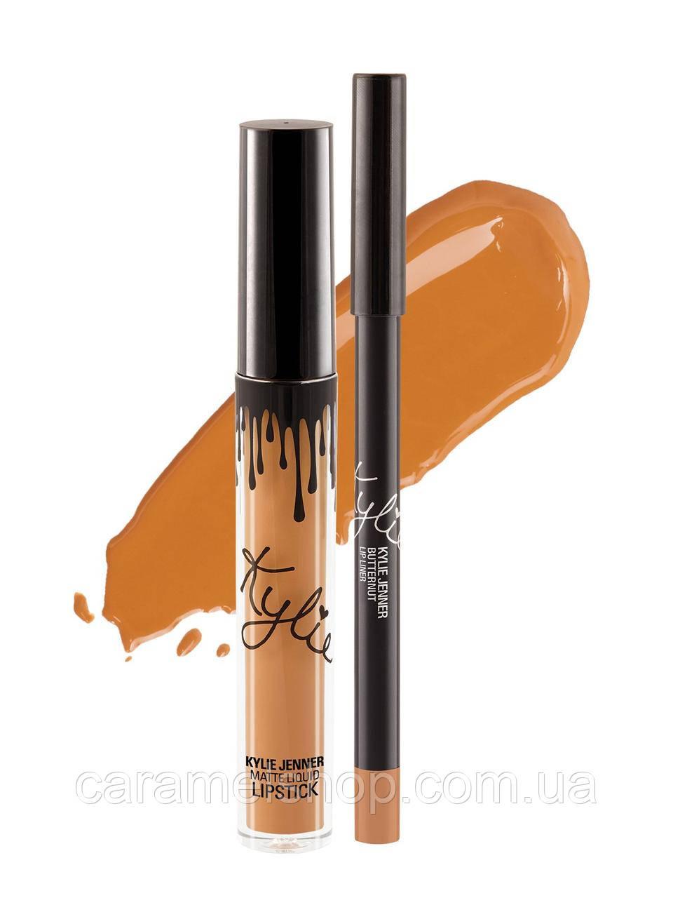 Жидкая матовая помада Kylie 8653 цвет Butternut | Matte Liquid Lipstick реплика
