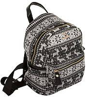 Рюкзак городской. Женский рюкзак с принтом. Молодёжный рюкзак.