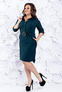 Платье-рубашка женская с поясом 50-56 р