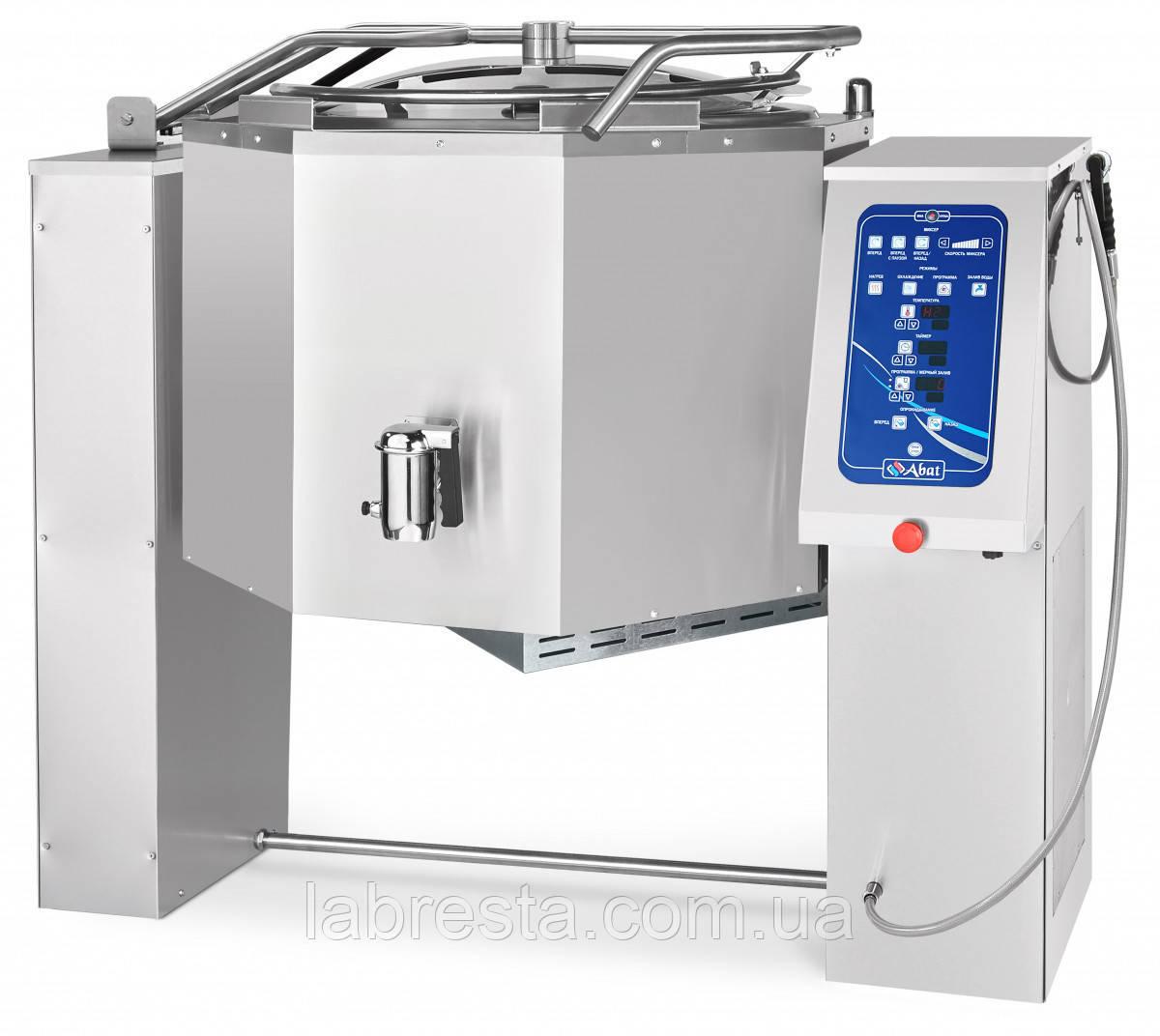 Котел пищеварочный Abat КПЭМ-250-ОМ2 (кран, миксер, авто опрокидывание, программы)