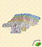Распашонка футер однотонный (начес) 3-х цвет накат р.56 см ост.2 шт розовый,желтый, фото 2