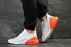 Мужские кроссовки Nike Air Max 270 (Бело-оранжевые), фото 3