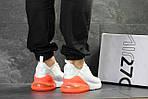 Мужские кроссовки Nike Air Max 270 (Бело-оранжевые), фото 6
