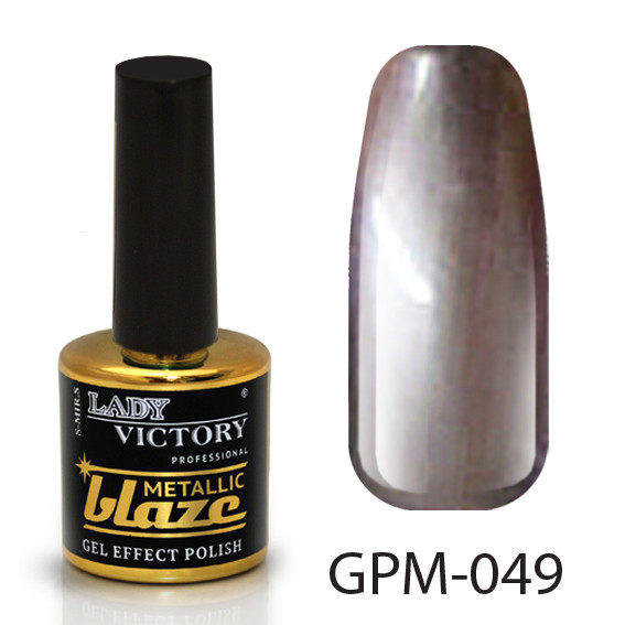 Металлический лак с эффектом гель-лака  GPM-(041-060) 049