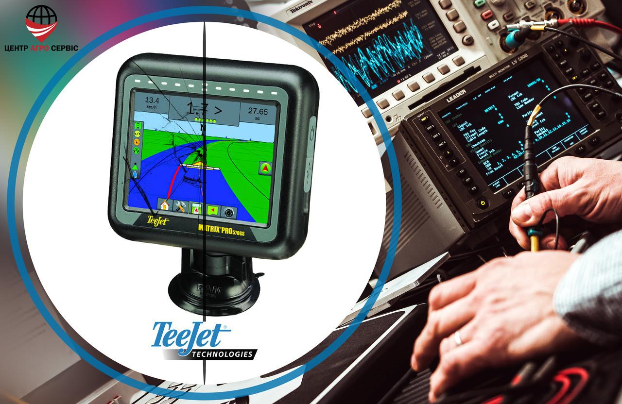 Ремонт,диагностика системы параллельного вождения (gps навигатора для трактора)  Тиджет матрикс 570
