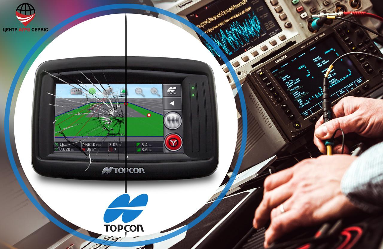 Ремонт,диагностика системы параллельного вождения (gps навигатора для трактора)  Топкон 14