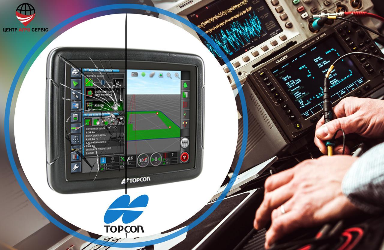 Ремонт,диагностика системы параллельного вождения (gps навигатора для трактора)  TOPCON x25