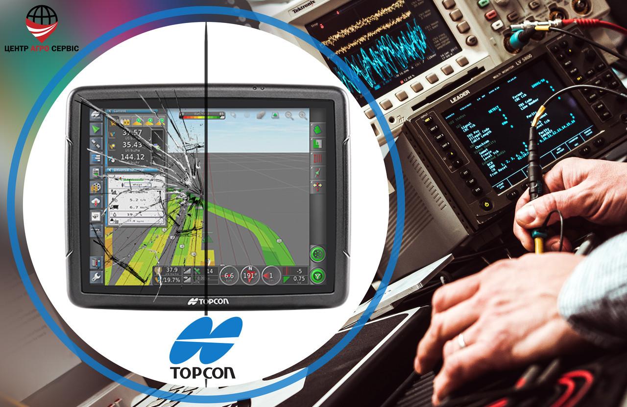 Ремонт,диагностика системы параллельного вождения (gps навигатора для трактора)  Топкон 35