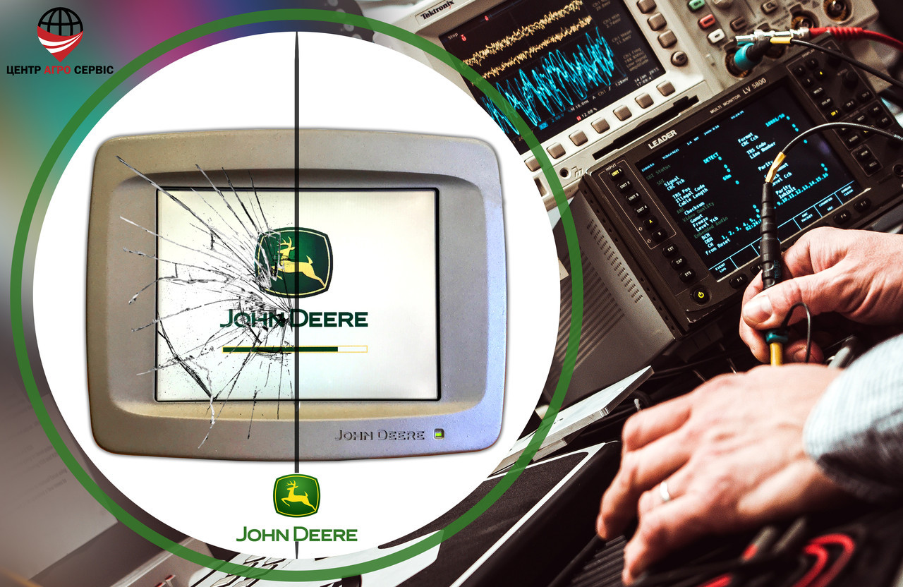 Ремонт,диагностика системы параллельного вождения (gps навигатора для трактора)  Джон дир 2600