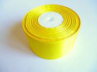 Лента атласная ярко-желтая 5 см