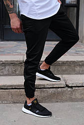 Мужские штаны спортивные Rocky черные. Живое фото