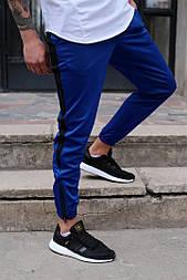 Мужские штаны спортивные Rocky синий. Живое фото