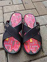 Мужские шлепанцы летние черные ПВХ Прогресс, фото 1