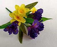 Букет искусственных цветов ИРИСЫ и НАРЦИССЫ, фото 1