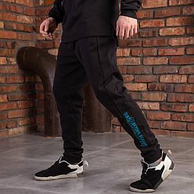 """Штаны черные спортивные для мужчин на манжетах """"DIAS"""""""