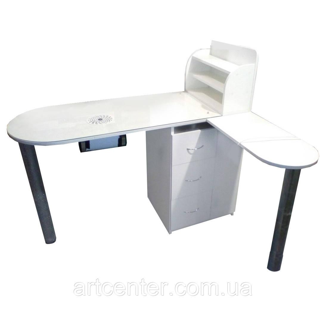 Маникюрный стол  профессиональный с витриной для лаков