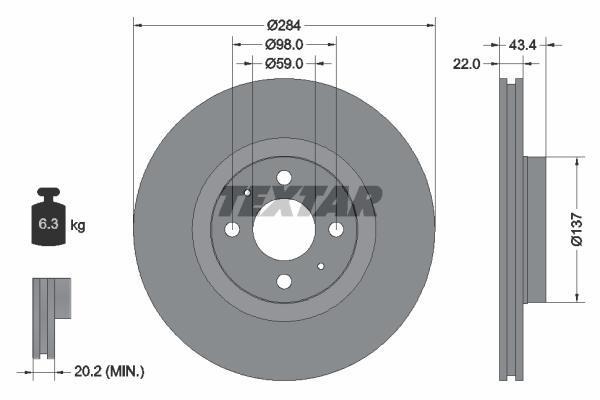 Диски пер. Audi 100/A4/A6 1.8-2.5TDi/E (91-97) прост.