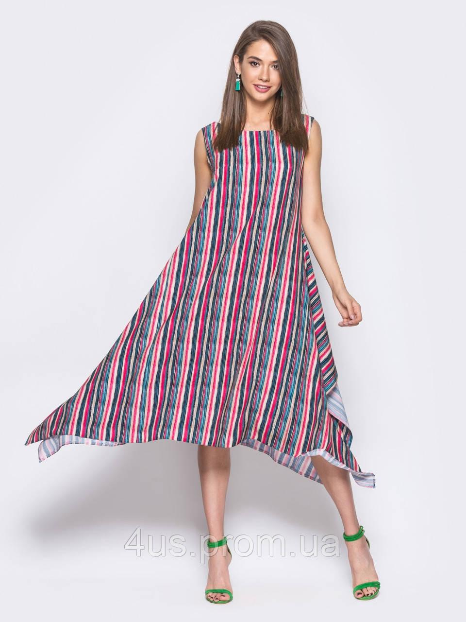 feeac30157f43a ✉️Летнее платье в полоску / Размер 44-46,48-50,52-54 / P19A7B1 ...