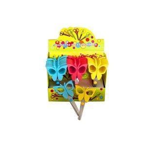 Ножницы детские Мультяшки Бабочки 5,5см B-10A