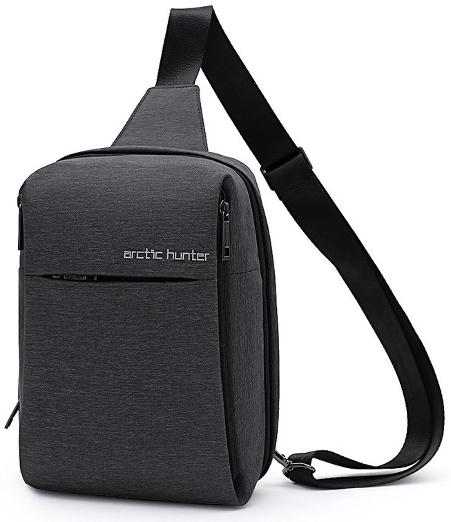 Однолямочная сумка-рюкзак через плечо (барсетка) Arctic Hunter XB00066, с каркасом, 4л