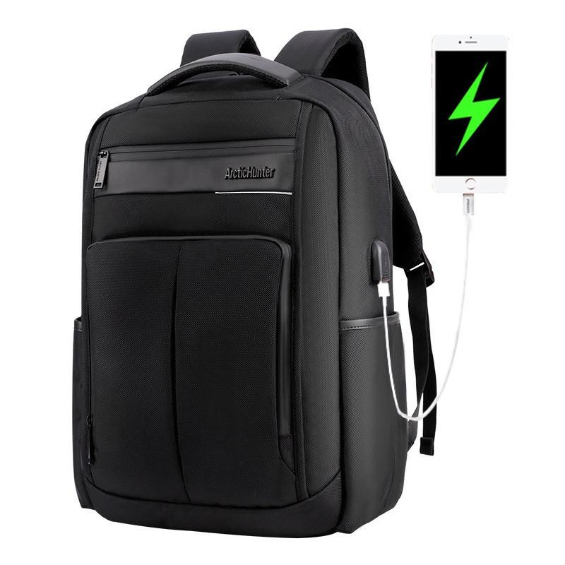 """Классический дорожный рюкзак для ноутбука до 15,6"""" Arctic Hunter B00121С, влагозащищённый, с USB портом, 25л"""