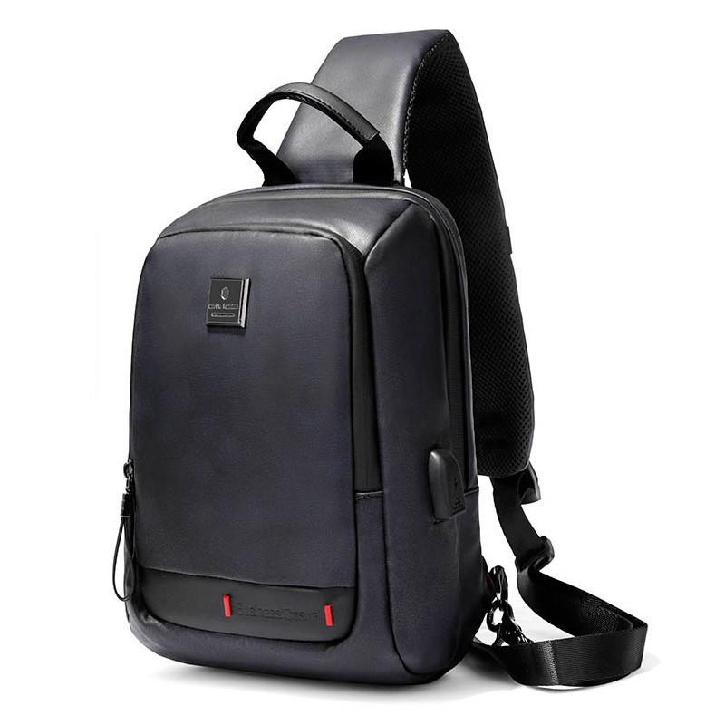 Однолямочный городской рюкзак-барсетка Arctic Hunter XB00088, влагозащищённый, 5л