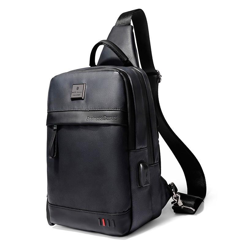 Однолямочный городской рюкзак-барсетка Arctic Hunter XB00090, влагозащищённый, 5л