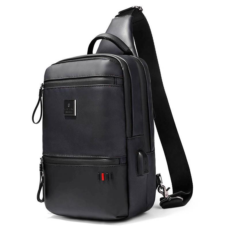 Однолямочный городской рюкзак-барсетка Arctic Hunter XB00092, влагозащищённый, 5л