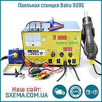 Паяльная станция Baku BK-909S фен + паяльник + лабораторный блок питания 1А + Радио и MP3, фото 1