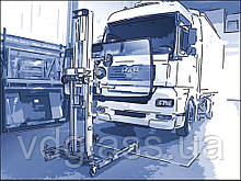 Замена лобового стекла на грузовике MAN TGS 26.400, кабина L в Никополе, Киеве, Днепре