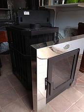 Печка для бани «Пруток-Панорама» с выносной топкой 18, 26 м³, фото 3
