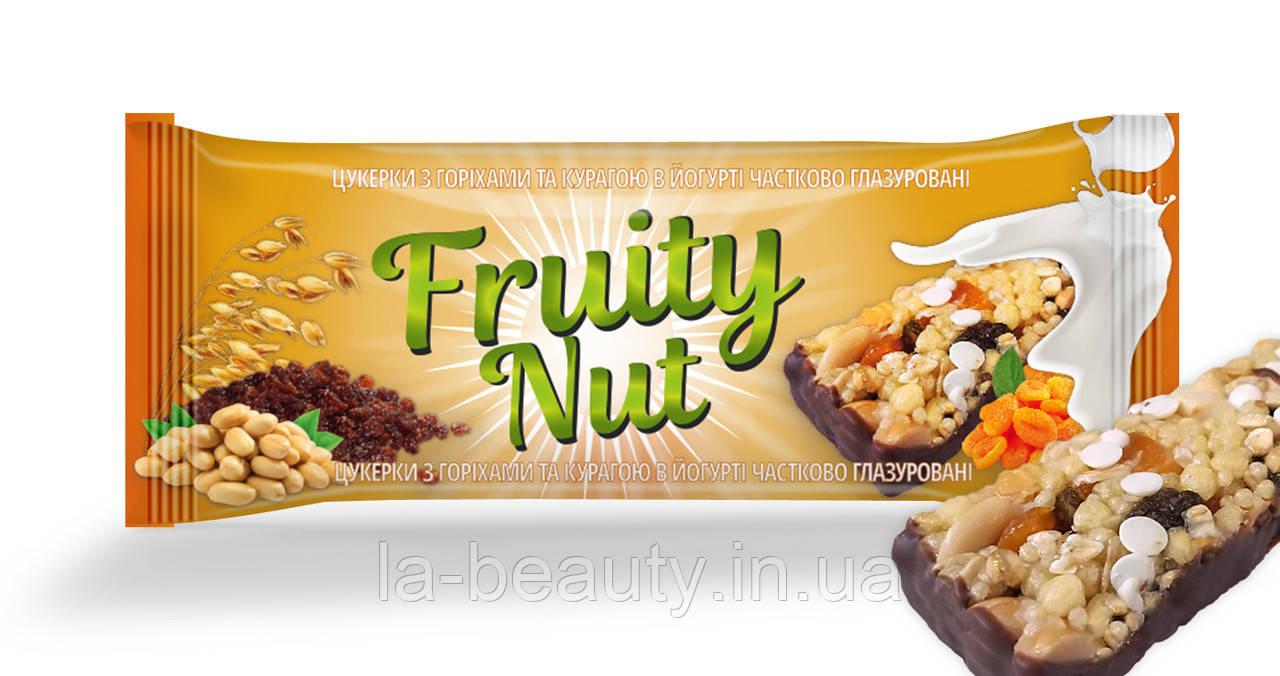 Батончик FruityNut с орехами и курагой в йогурте