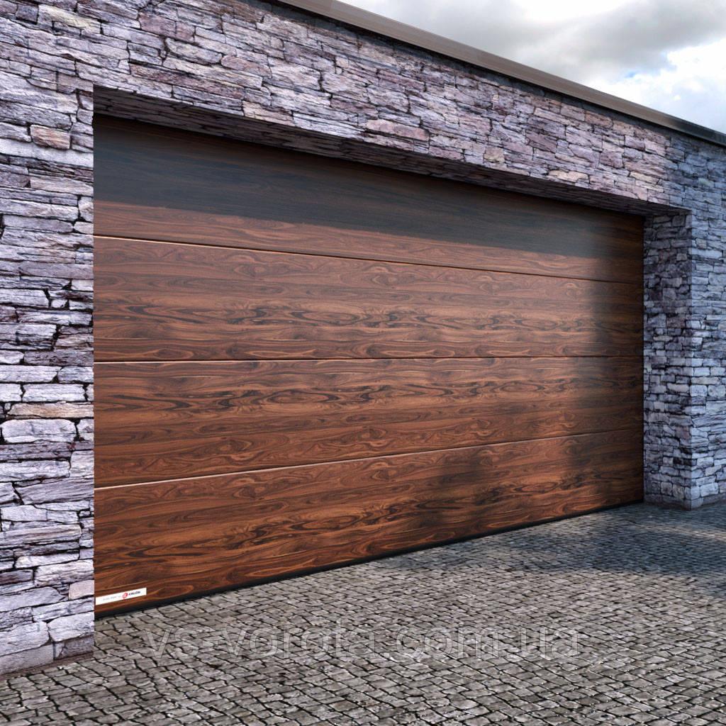 Ворота CLASSIC размер 6000х2200 мм - ALUTECH Белоруссия, гаражные секционные