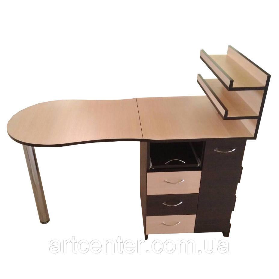 """Маникюрный стол профессиональный, стол для маникюра с ящиком """"карго"""""""