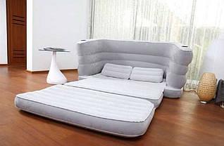 Велюр-диван раскладной Bestway 75063, серый, фото 2