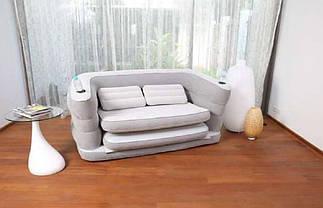 Велюр-диван раскладной Bestway 75063, серый, фото 3